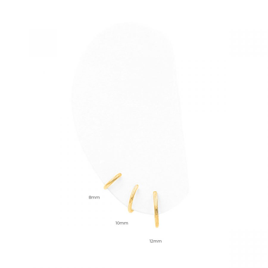 Tamaños de aritos 12 mm - 10 mm- 8 mm