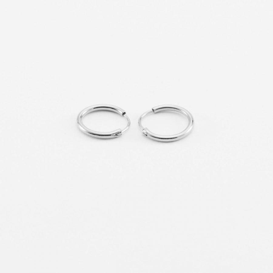 Aritos de plata de 10mm unisex