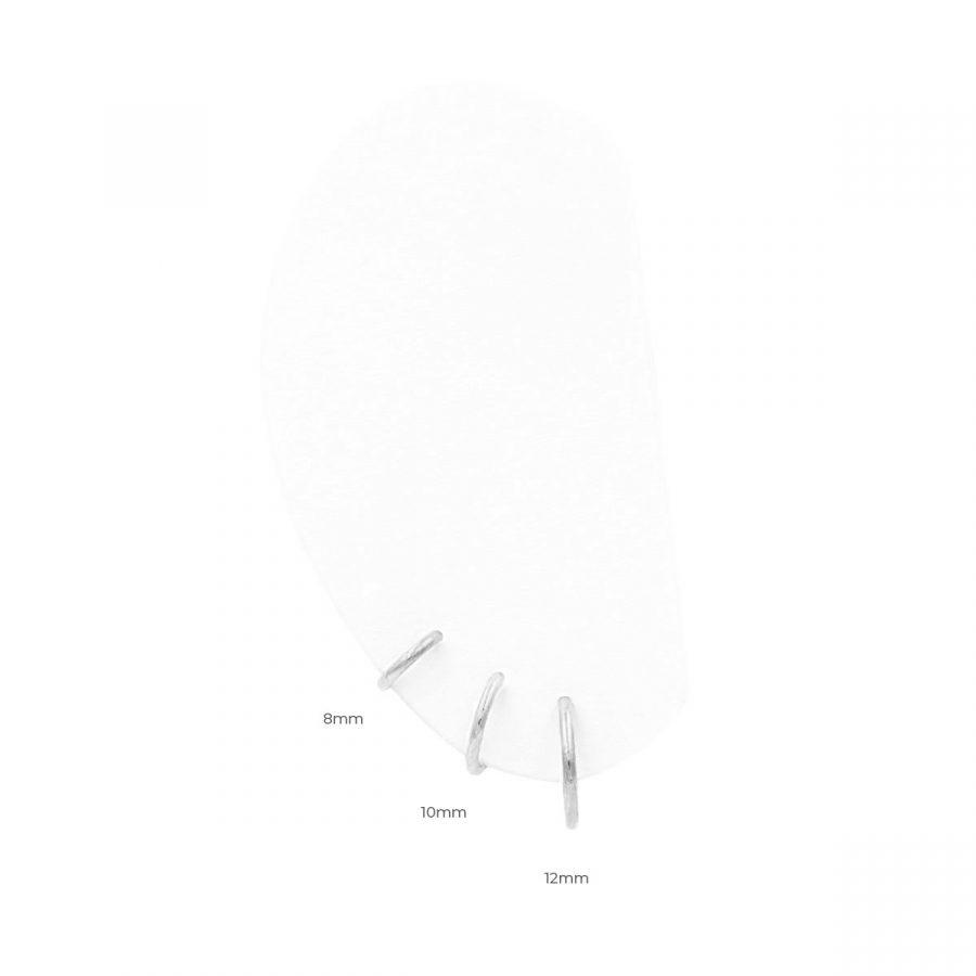 Aritos Plata Tamaños 8mm, 10mm, 12mm