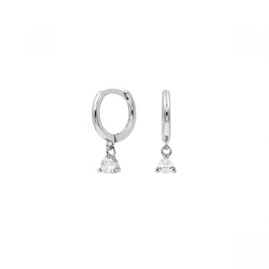 comprar aritos plata cristal
