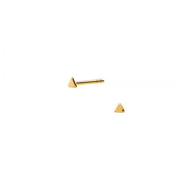 Pendientes mini en forma de triángulo de 2mm