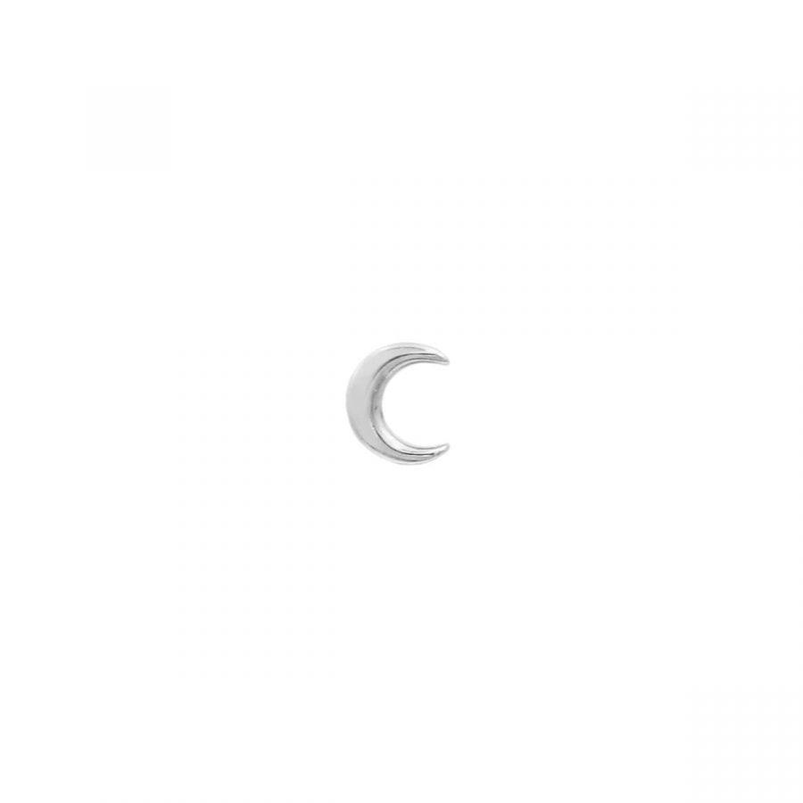 Piercing de Luna con cierre de Bola en Plata