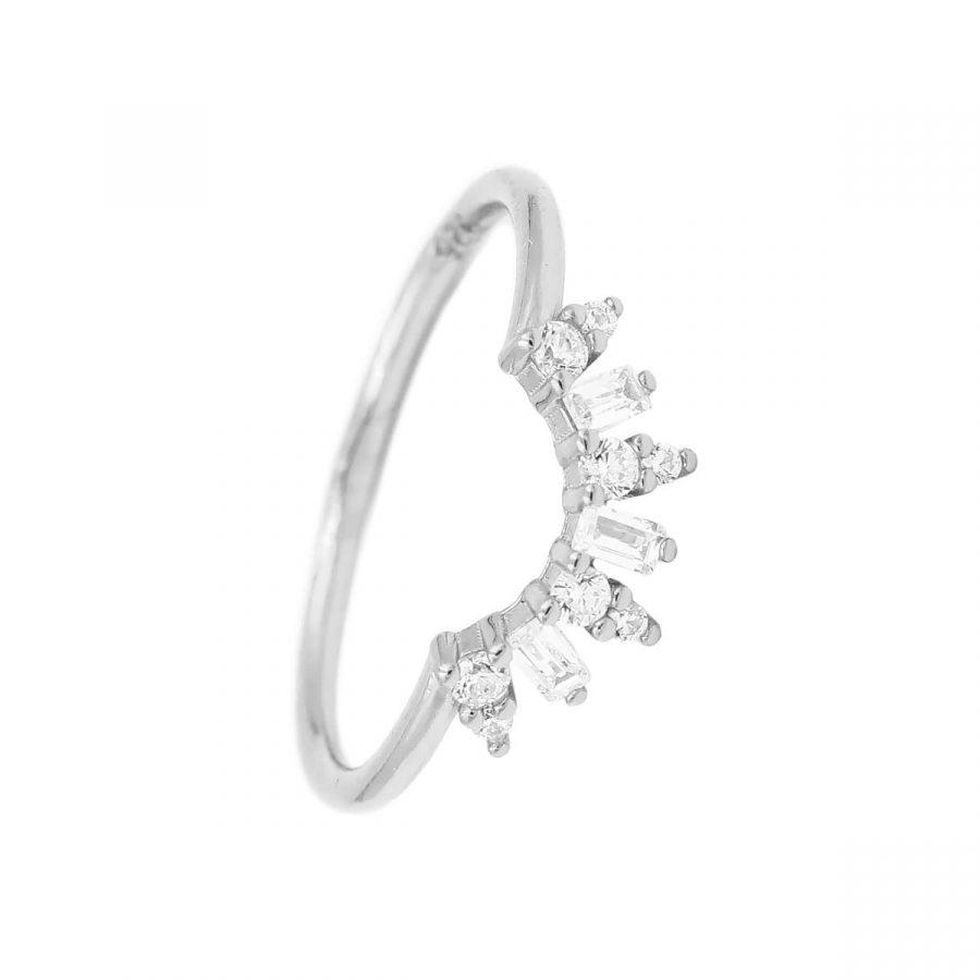anillo sol en plata de ley