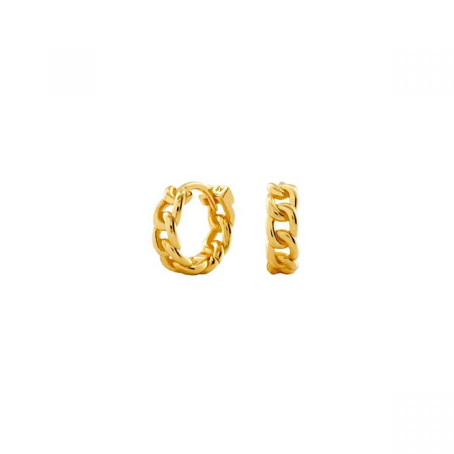 Pendientes de aro con diseño de pequeño eslabones de cadena