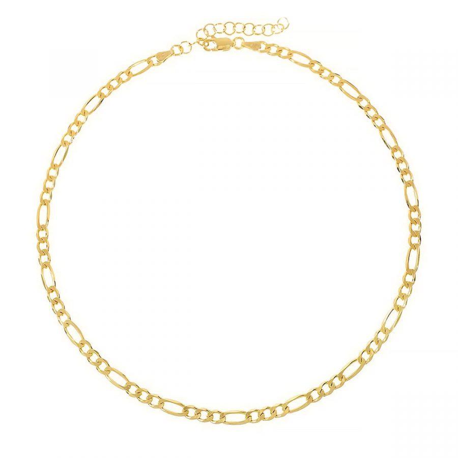 Collar de Eslabones bañado en oro con cadena programada