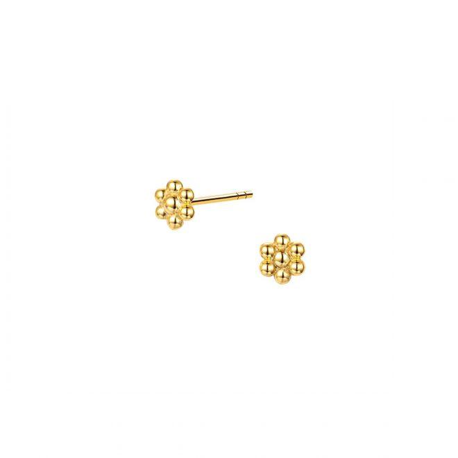 Pendientes en forma de mini flor para la oreja
