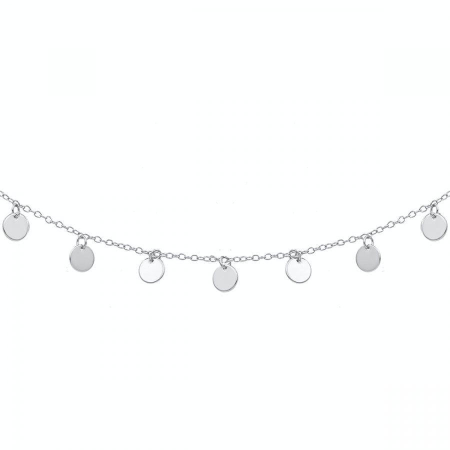 collar corto de plaquitas de plata