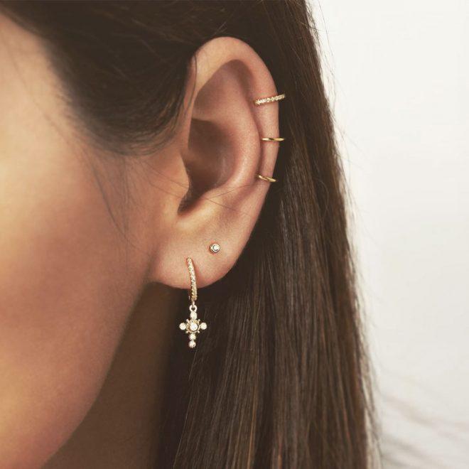 Aros Cross y Ear Cuff Triple