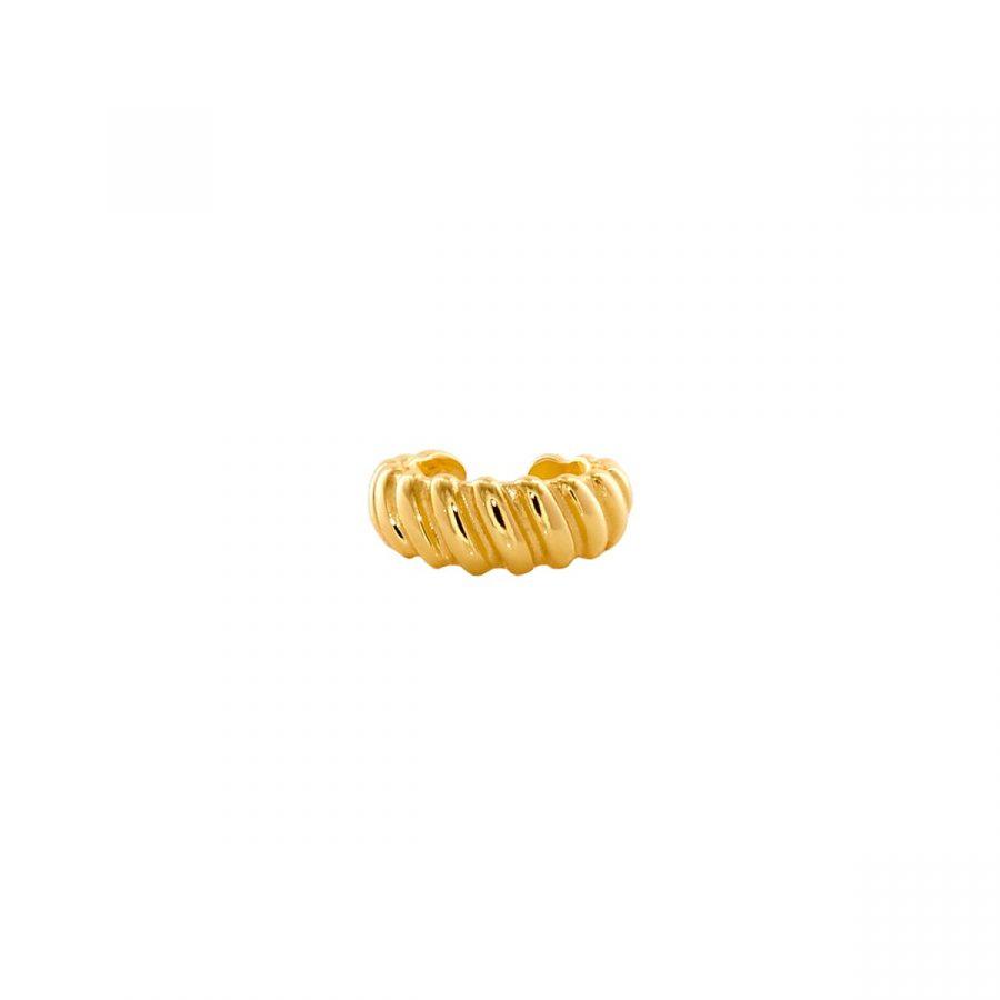 cartílago trenzado dorado ancho