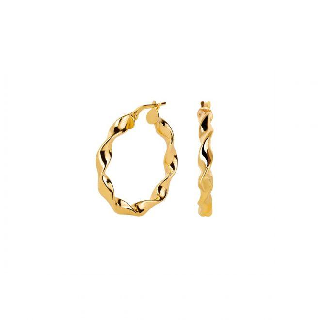 Aros twist dorados de 20mm