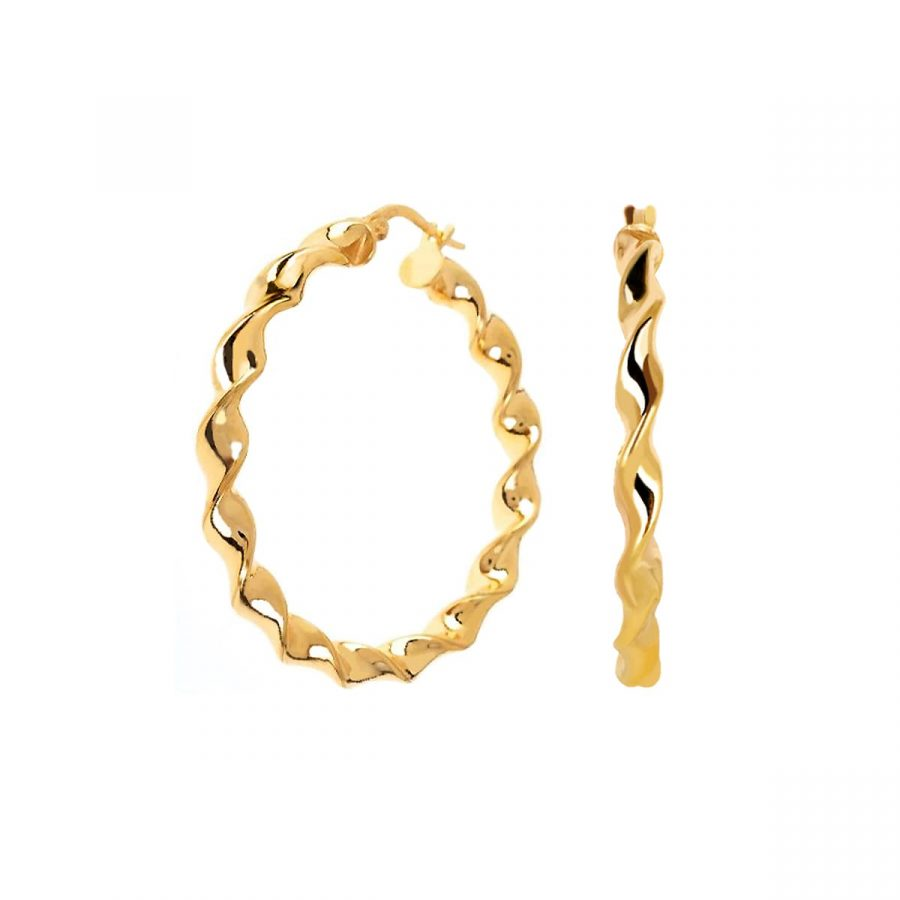Aros Twist Oro de 30mm