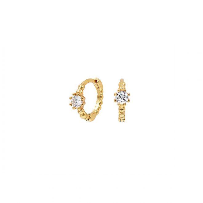comprar mini aros cristal de oro