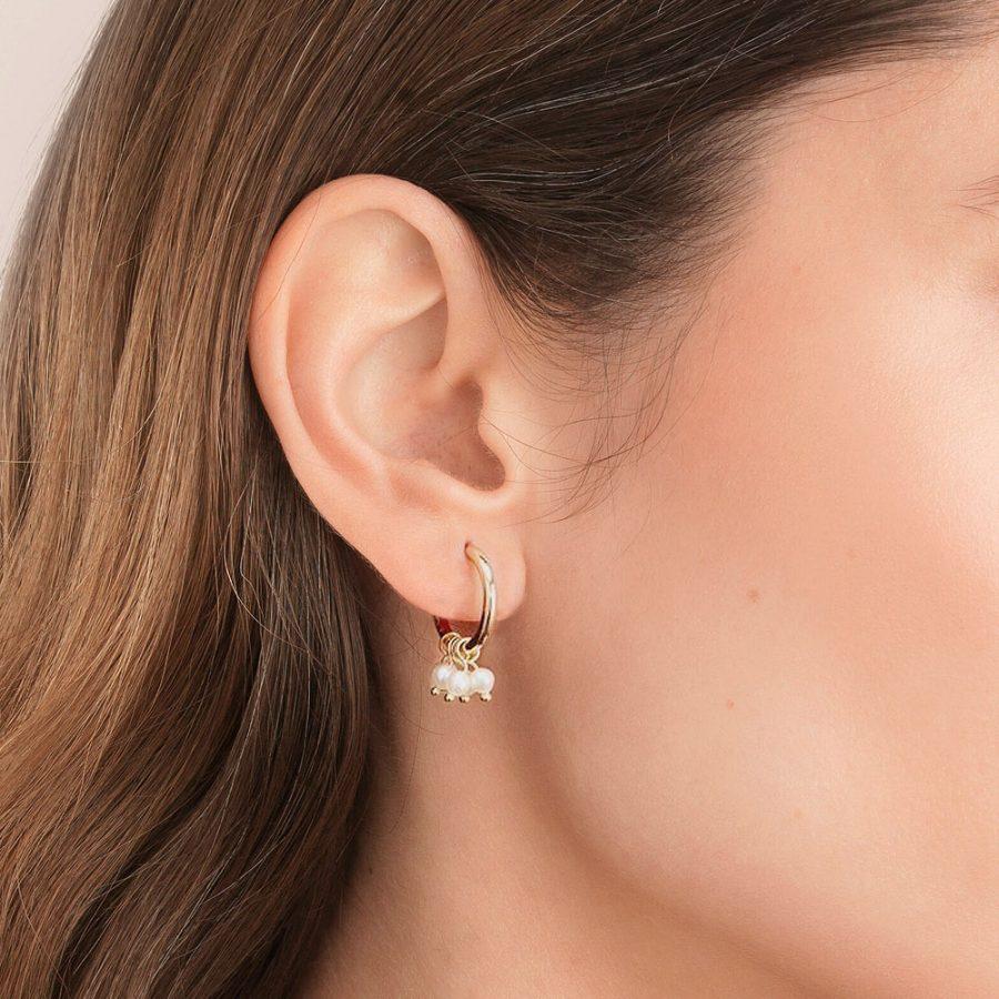 Criollas de perlas par mujer