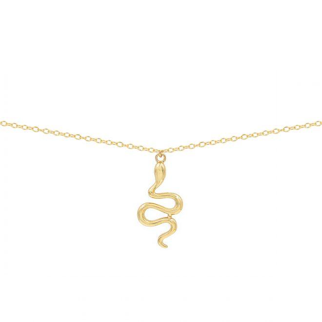 comprar colgante cobra de plata bañada en oro
