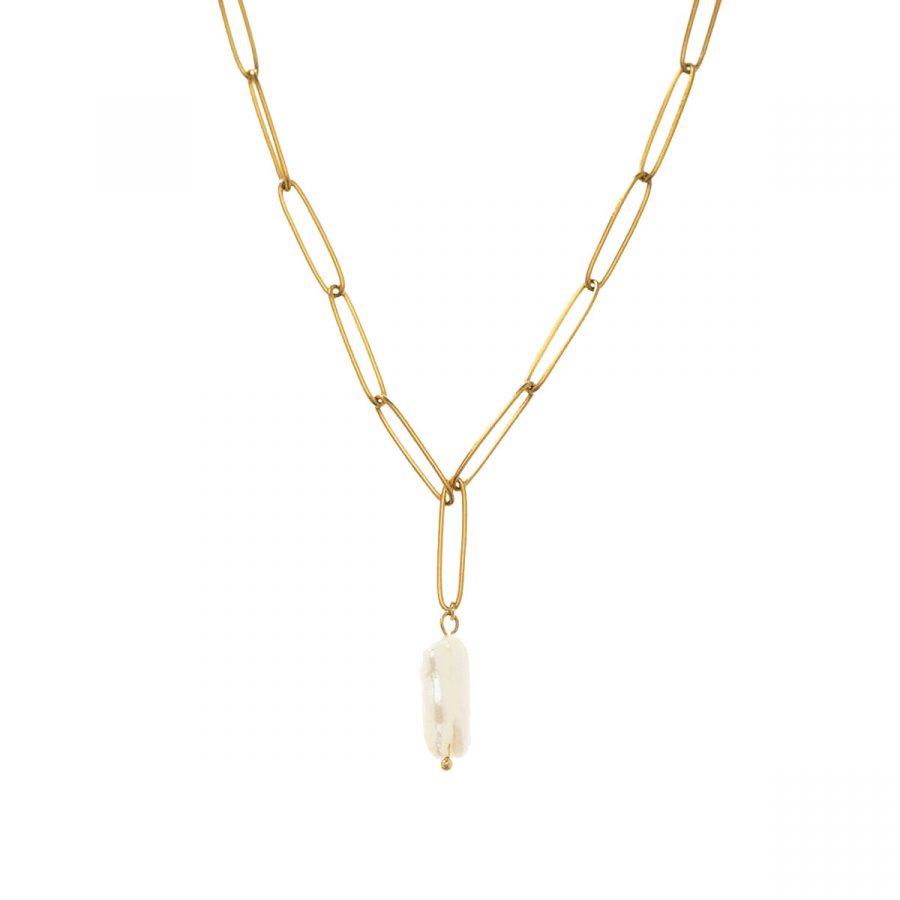 cadena con colgante de perla