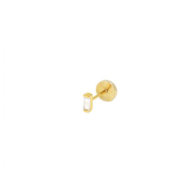Pendiente para piercing bañado en oro 18k