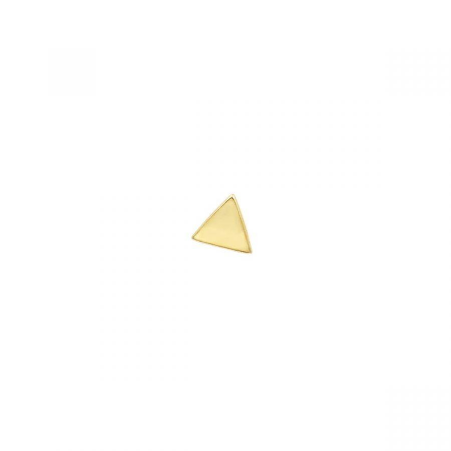 Pendiente Tirángulo Dorado de Rosca
