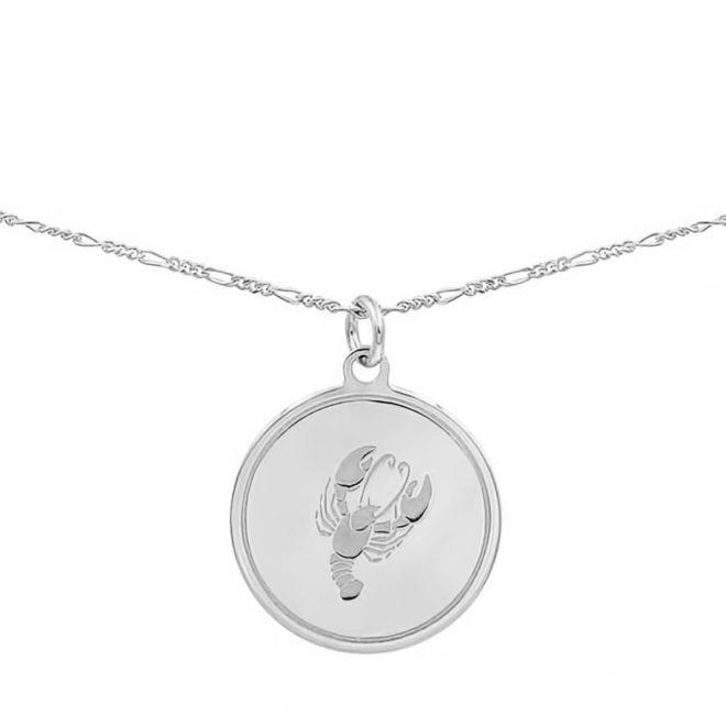 collar con medalla de signo del zodiaco en plata de ley