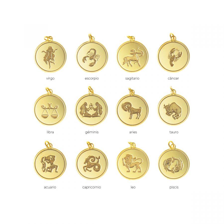 Colgante signos del zodiaco