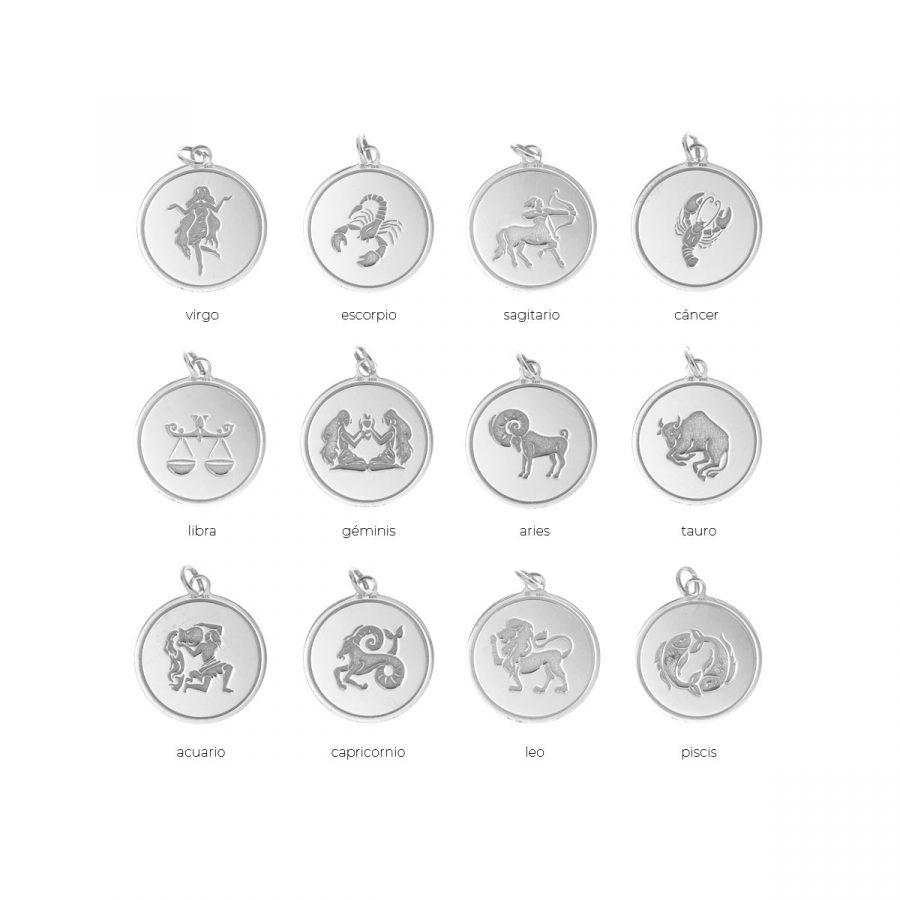 Colgante en plata de horóscopo