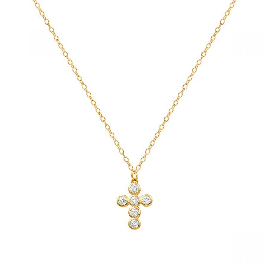 comprar collar con cruz con brillantes
