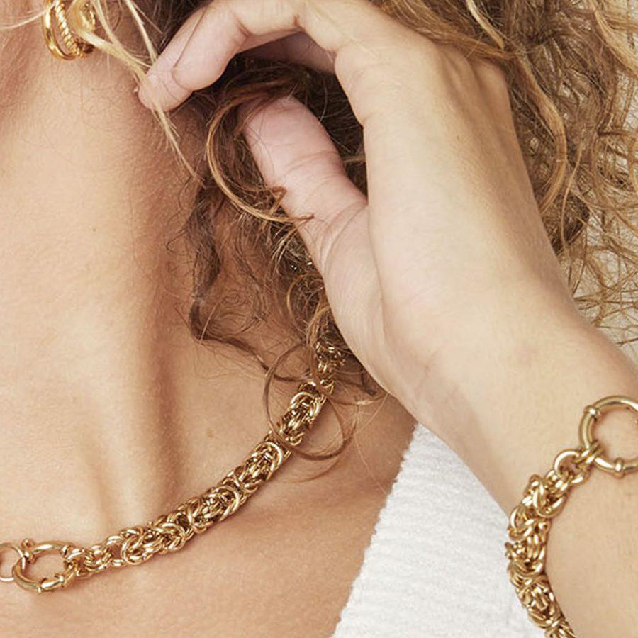 Conjunto de collar y pulsera en acero