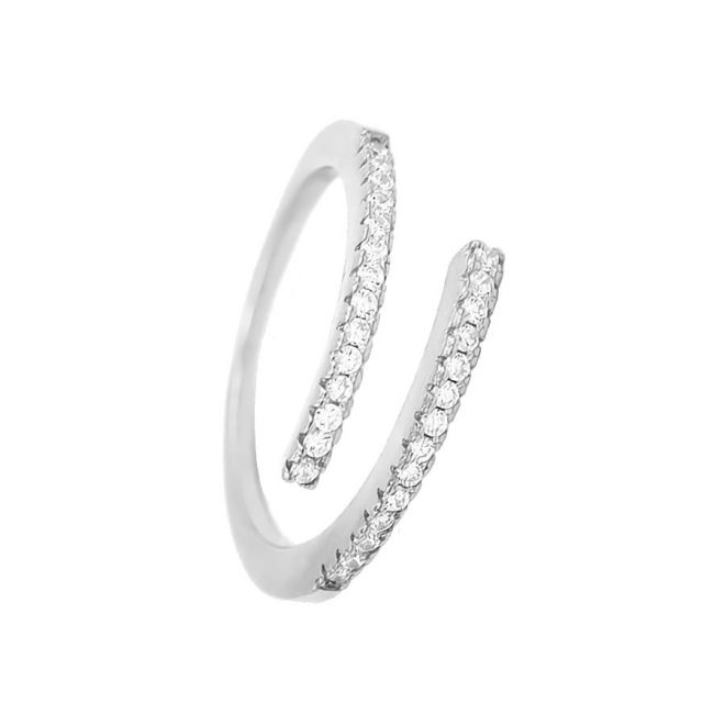 comprar anillo abierto con brillantes