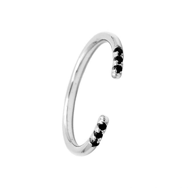comprar anillo de plata abierto con circonita