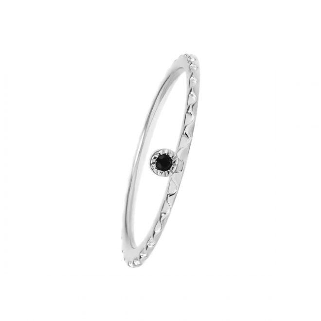 comprar anillo estilo boho con circonita negra