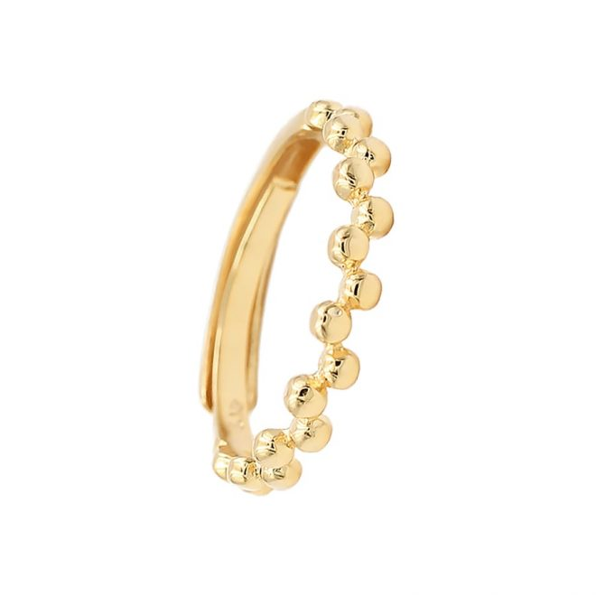 anillo ajustable de bolitas