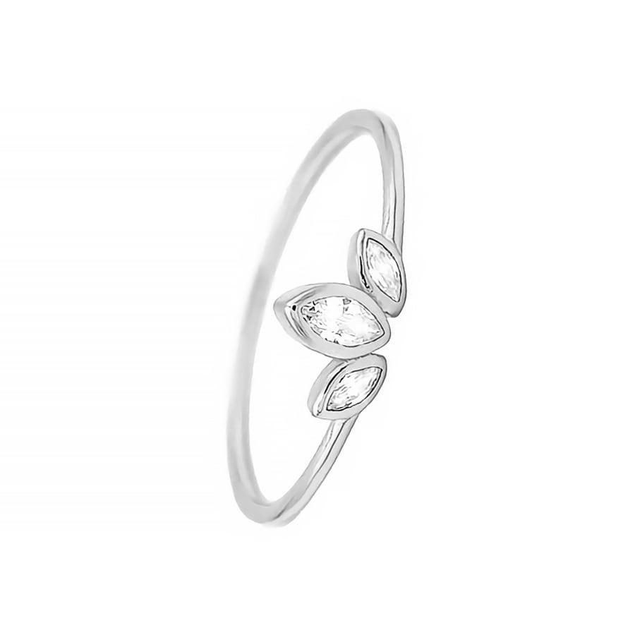 comprar anillo con cirnonitas en forma de hojas