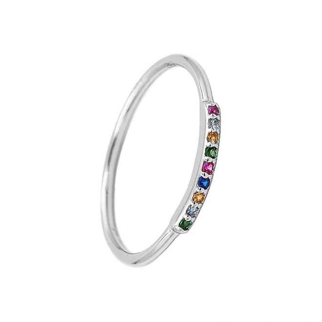 comprar anillo mini colors plata