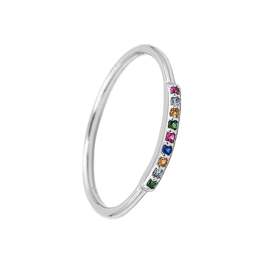 comprar anillo mini colors plata