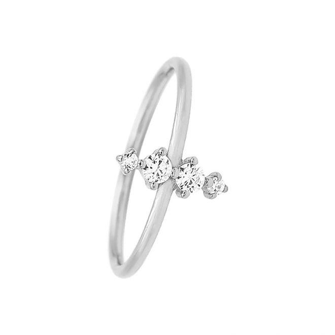 comprar anillo con línea de circonitas