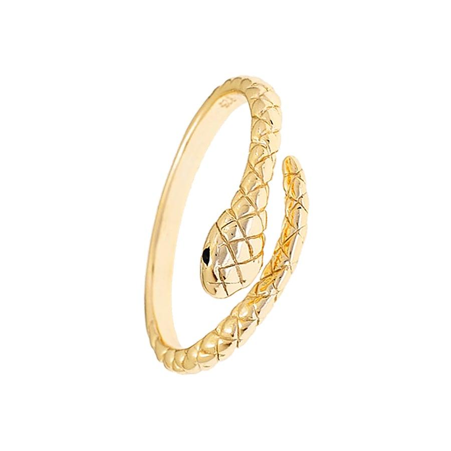 anillo de serpiente en forma cobra