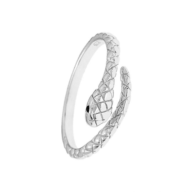 comprar anillo serpiente plata