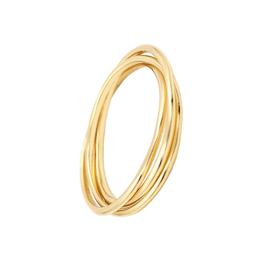 anillo de tres aros entrelazados
