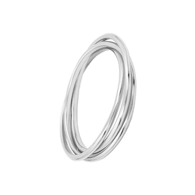 anillo triple con tres aros