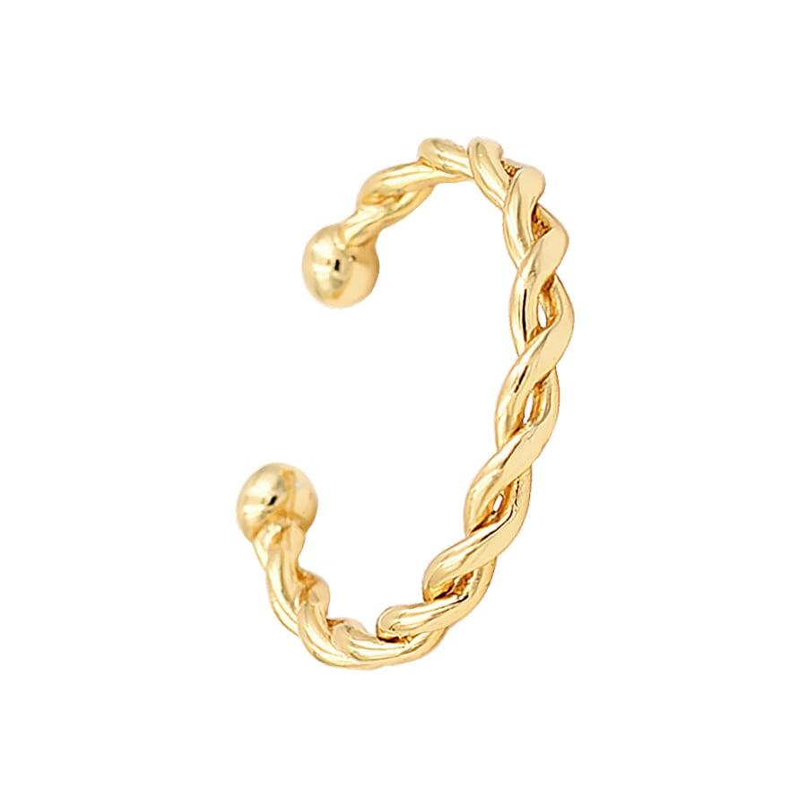 anillo trenzado con baño de oro
