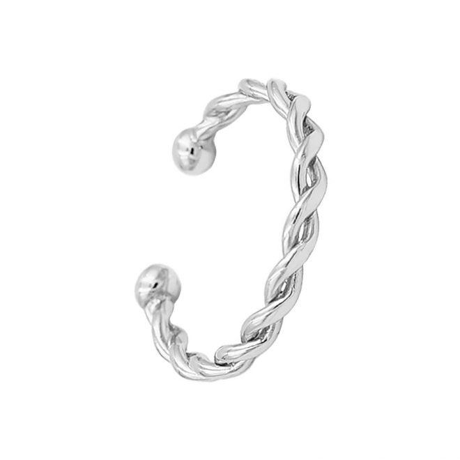 comprar anillo twist realizado en plata de ley
