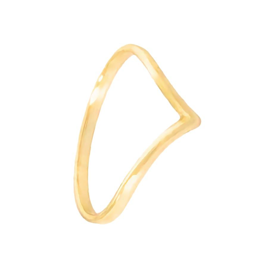 anillo uve oro con pico frontal
