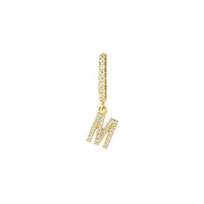 Aro con inicial personalizada en oro vermeil