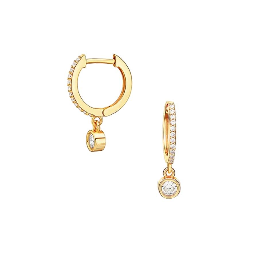 comprar aros con cristal bañados en oro