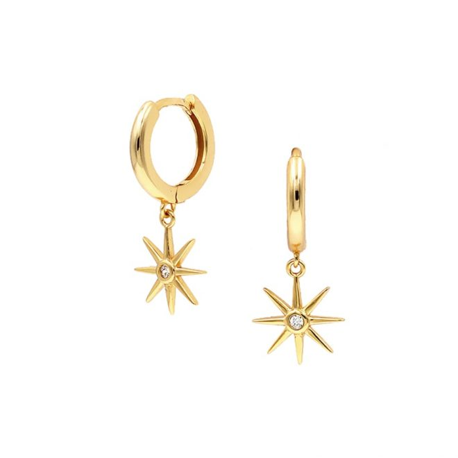 comprar aros con estrella bañados en oro