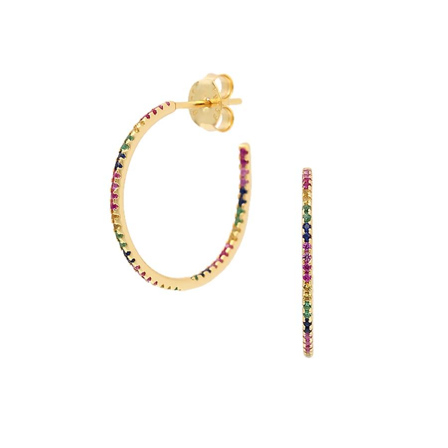 comprar aros con circonitas arco iris
