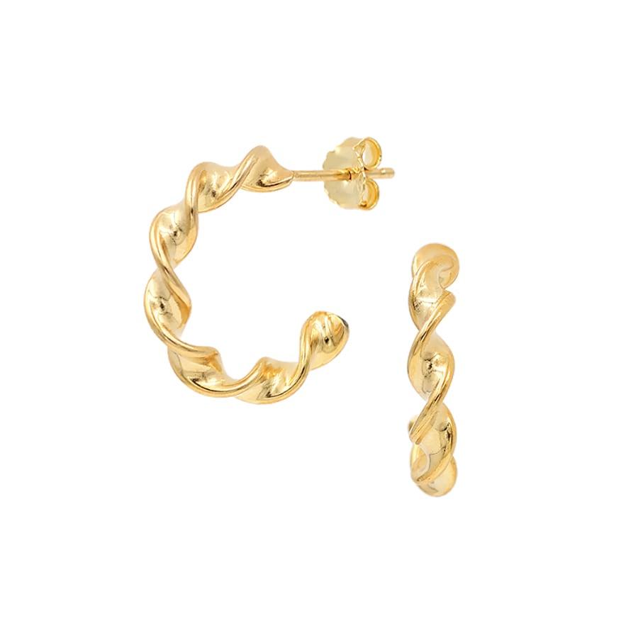 comprar aros twist baño de oro