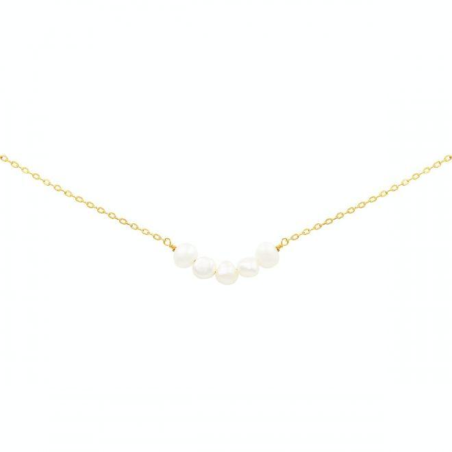comprar colgante de perlas bañado en oro