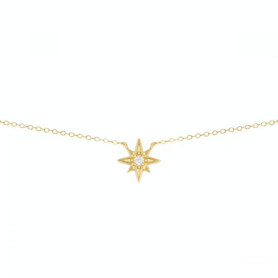 Collar con colgante en forma de estrella polar