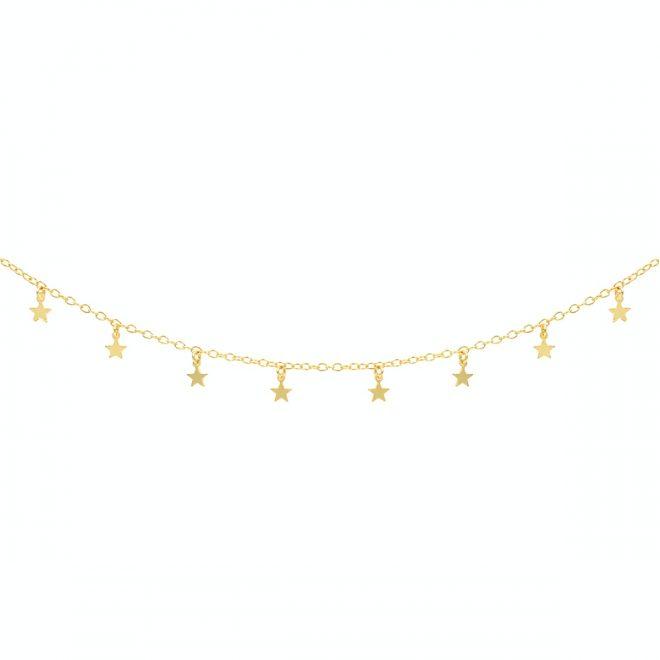 comprar collar con estrellas bañado en oro