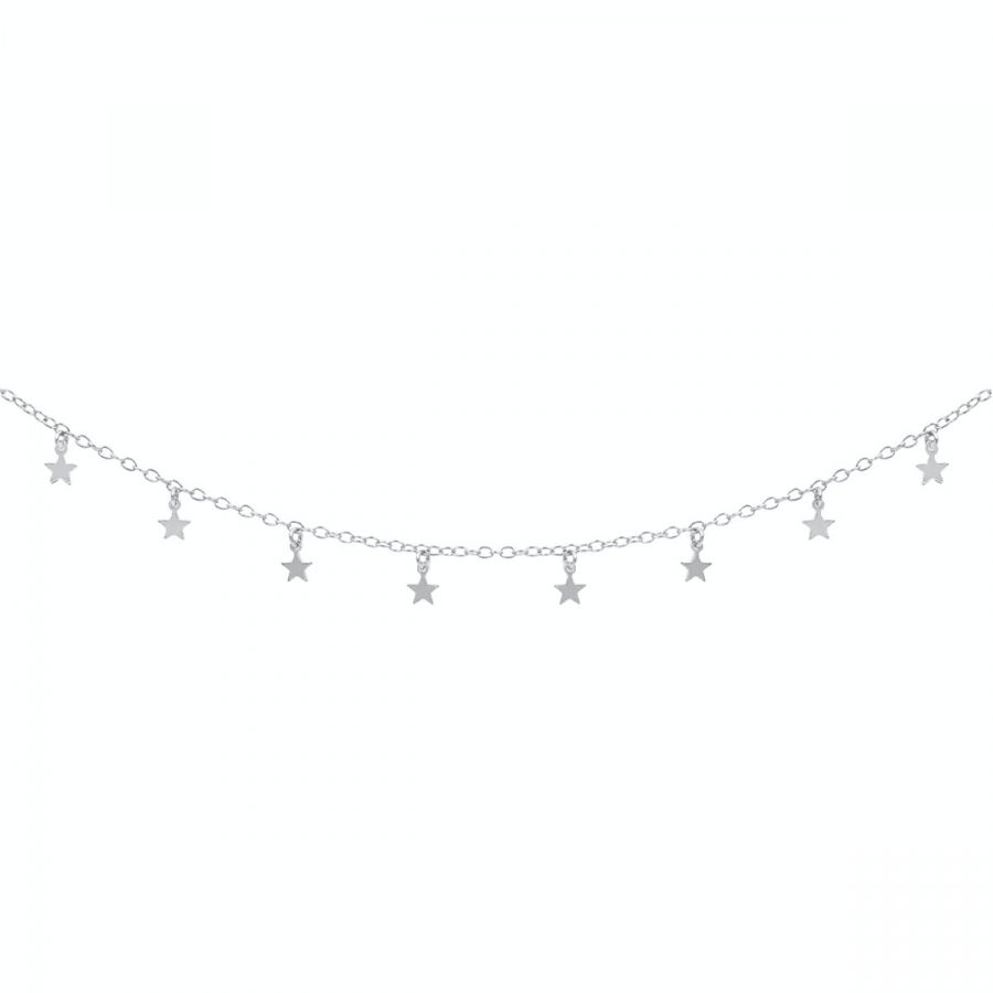comprar collar con estrellitas de plata